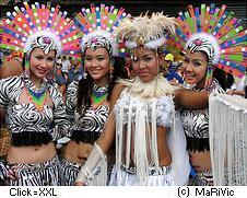 Dancers on fiesta Philippines