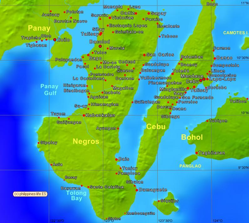 Negros Occidental Philippines Map